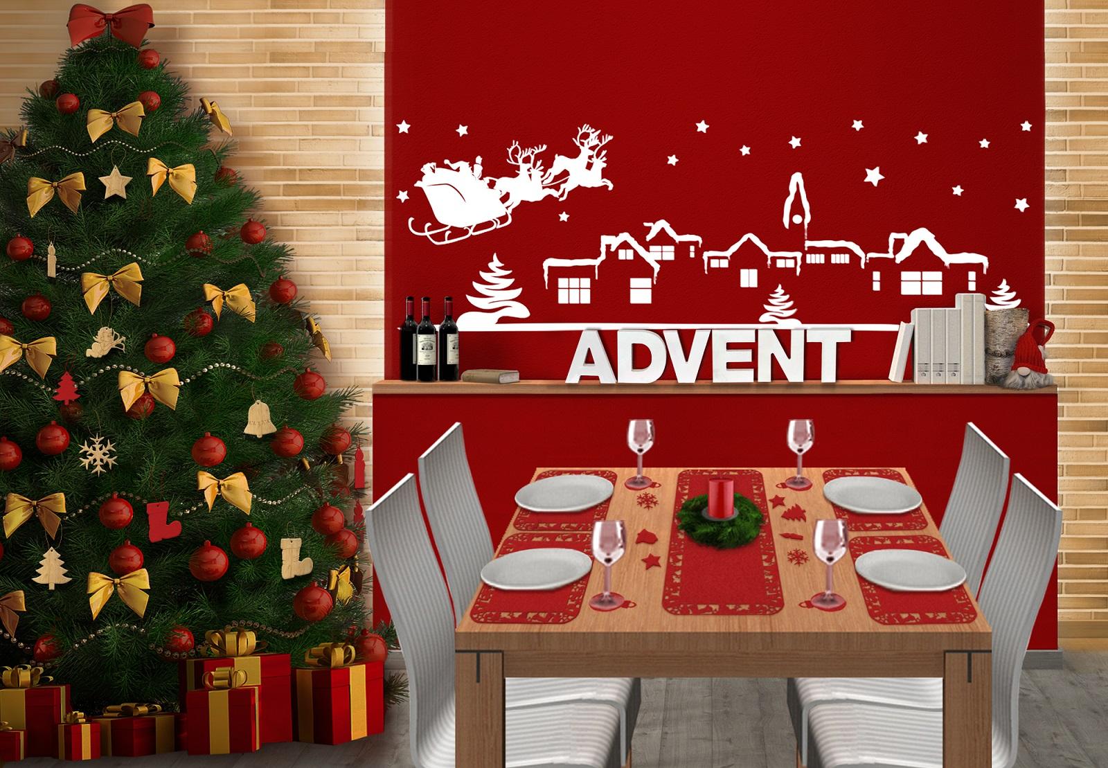 Weihnachten bezaubernde dekoration wall for Dekoration weihnachten