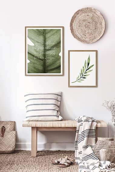 Poster-Set inkl. Bilderrahmen Grüne Natur