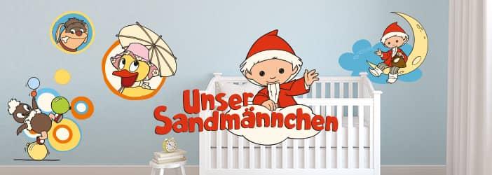 Sandm nnchen shop sandm nnchen wandtattoos f r kinder wall - Wandtattoo dampflok ...