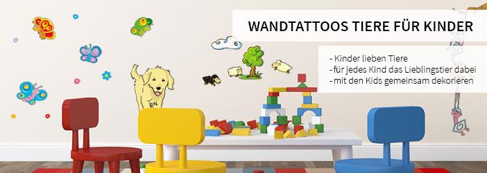 kinderzimmer wandtattoos tiere f r kinder wall art. Black Bedroom Furniture Sets. Home Design Ideas