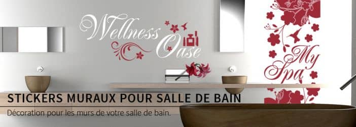 boutique en ligne de stickers muraux pour salle de bain wall. Black Bedroom Furniture Sets. Home Design Ideas