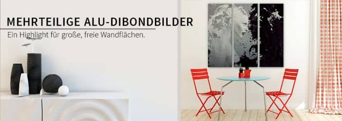 alu dibond silbereffekt mehrteilige wandbilder wall. Black Bedroom Furniture Sets. Home Design Ideas