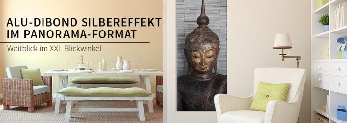 alu dibond silbereffekt mit panorama motiven wall. Black Bedroom Furniture Sets. Home Design Ideas