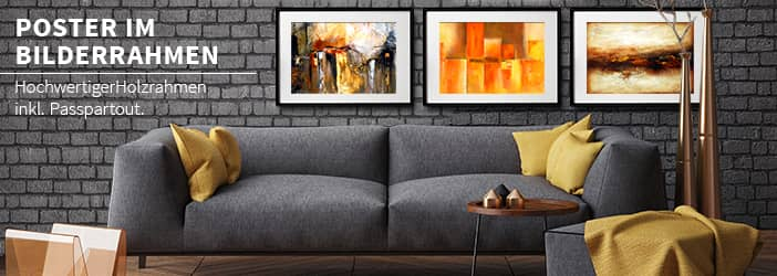 wandbilder im gallerierahmen wall. Black Bedroom Furniture Sets. Home Design Ideas