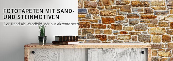 Mediterrane Tapeten Bord?ren : Fototapeten mit Sand- und Steinmotiven wall-art.de