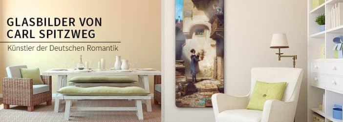 glasbilder mit motiven von carl spitzweg wall. Black Bedroom Furniture Sets. Home Design Ideas