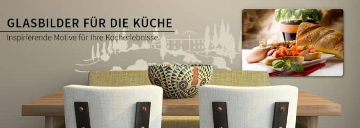 glasbilder f r die k che wall. Black Bedroom Furniture Sets. Home Design Ideas
