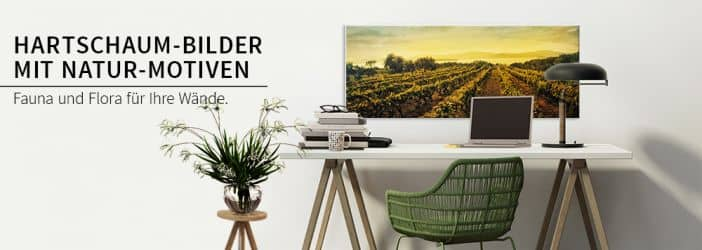 hartschaum wandbilder mit natur motiven wall. Black Bedroom Furniture Sets. Home Design Ideas
