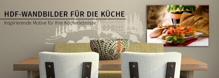 hdf wandbilder k che tolle motive in satten farben wall. Black Bedroom Furniture Sets. Home Design Ideas