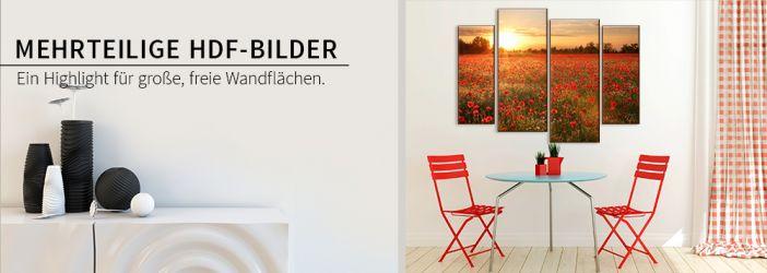 hdf wandbilder mit mehrteiligen motiven wall. Black Bedroom Furniture Sets. Home Design Ideas
