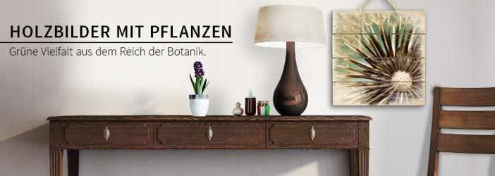 holzbilder mit pflanzen motiven wall. Black Bedroom Furniture Sets. Home Design Ideas