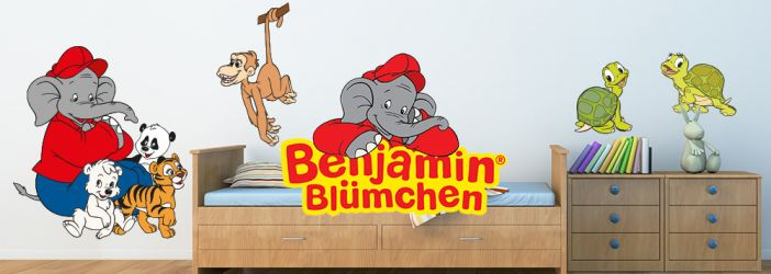 Benjamin Blümchen Wandtattoos und Fensterbilder