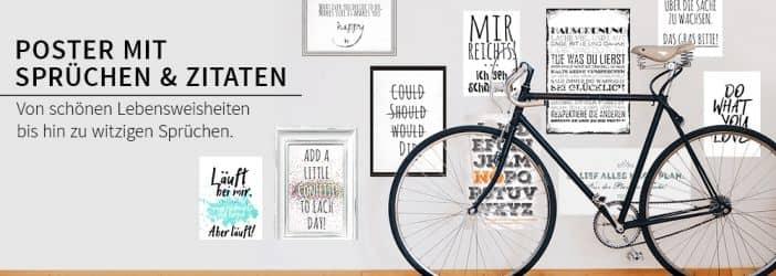hochwertige poster mit spr chen und zitaten wall. Black Bedroom Furniture Sets. Home Design Ideas