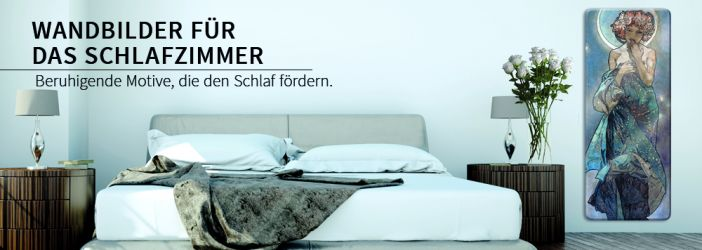 wandbild f r schlafzimmer glasbild leinwand. Black Bedroom Furniture Sets. Home Design Ideas
