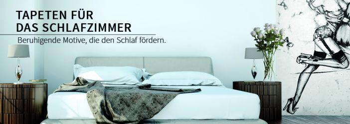 schlafzimmer tapeten fototapeten f r das schlafzimmer wall. Black Bedroom Furniture Sets. Home Design Ideas