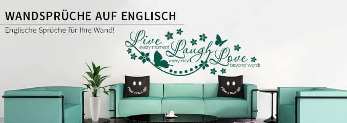 wandtattoo englische spr che wall art wandtattoos und. Black Bedroom Furniture Sets. Home Design Ideas