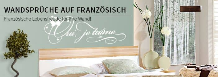 franz sische wandspr che zum dekorieren wandtattoo. Black Bedroom Furniture Sets. Home Design Ideas