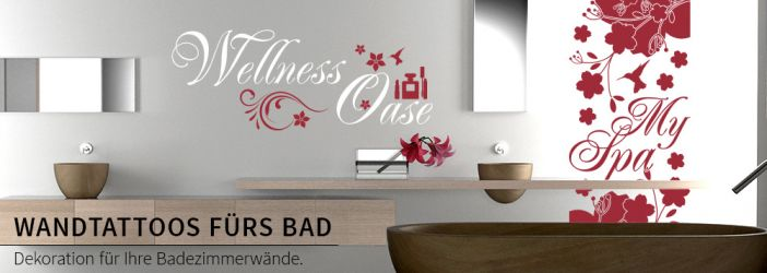 wandtattoo f rs bad baddeko mit wandtattoos deko online. Black Bedroom Furniture Sets. Home Design Ideas