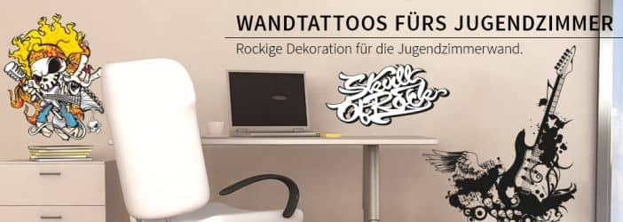 jugendzimmer neu dekorieren wandtattoo wall art. Black Bedroom Furniture Sets. Home Design Ideas