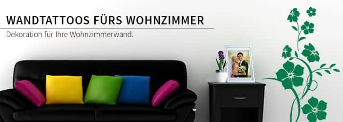 wandtattoos f r wohnzimmer wohnzimmerdeko im wandtattoo shop wall. Black Bedroom Furniture Sets. Home Design Ideas