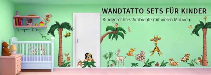 Wandtattoo kinderzimmer sets wandtattoo wall art wandtattoos bestellen deko idee und - Jungle wandtattoo ...