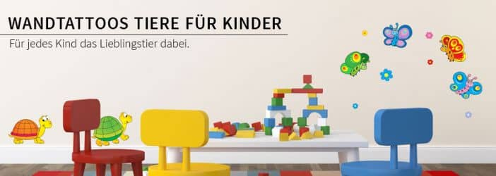 kinderzimmer wandtattoos tiere f r kinder wall art wandtattoo shop wall. Black Bedroom Furniture Sets. Home Design Ideas