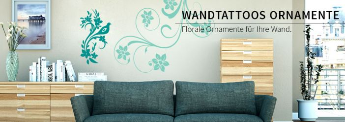 Wandtattoo pflanzen ornamente wandtattoo wall art wandtattoos bestellen deko idee und - Wandtattoos ornamente ...