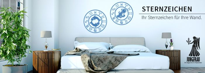 wandtattoo sternzeichen dekorative symbole f r die w nde wall art wandtattoos bestellen. Black Bedroom Furniture Sets. Home Design Ideas