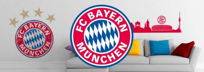 fc bayern m nchen fanshop wandtattoos wall. Black Bedroom Furniture Sets. Home Design Ideas