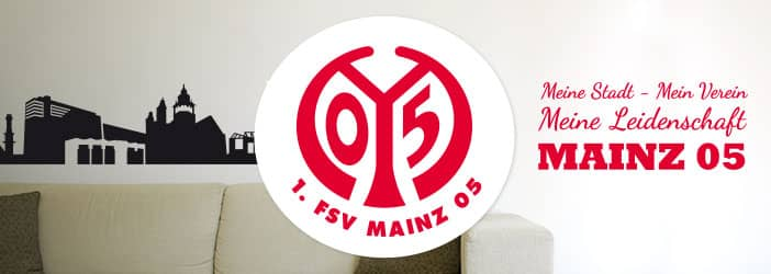 fsv mainz 05 fanshop wandtattoos f r fans wall. Black Bedroom Furniture Sets. Home Design Ideas