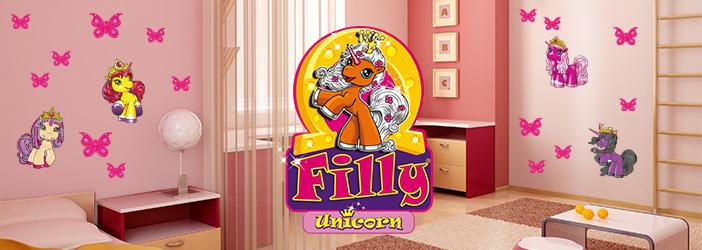 Wandtattoo Filly Unicorn