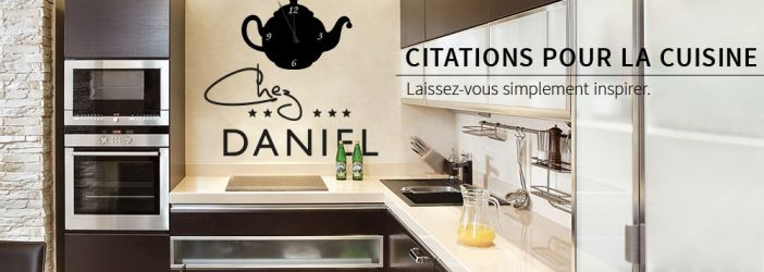 boutique en ligne de stickers muraux proverbes et citations pour la cuisine wall. Black Bedroom Furniture Sets. Home Design Ideas