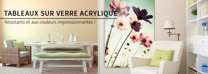 tableaux sur verre acrylique wall. Black Bedroom Furniture Sets. Home Design Ideas