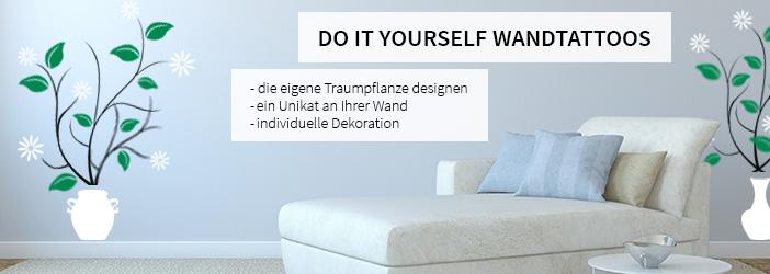 basteln mit wandtattoos pflanzen wandtattoo wall art. Black Bedroom Furniture Sets. Home Design Ideas