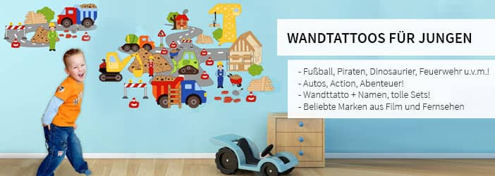 wandtattoos f r jungs wandtattoo wall art wandtattoos bestellen deko idee und wandsticker. Black Bedroom Furniture Sets. Home Design Ideas