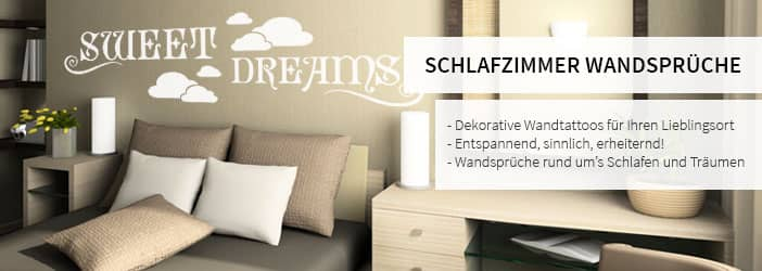 wandtattoo spr che f r das schlafzimmer. Black Bedroom Furniture Sets. Home Design Ideas
