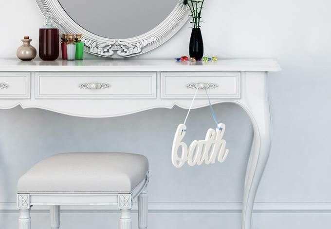 Decoratieletters   3D Letters Bath