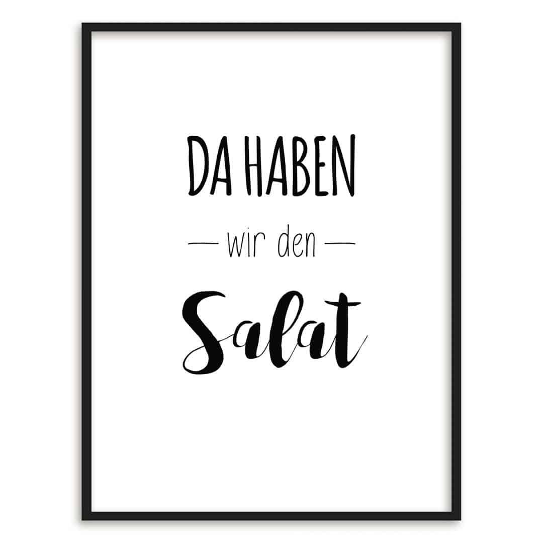 Poster mit Bilderrahmen - Da haben wir den Salat! | wall-art.de