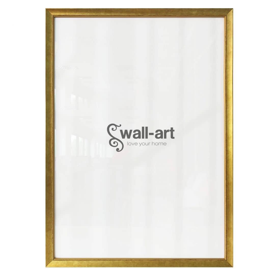 Posterlijst Pearl  Gold met pareltjesrand
