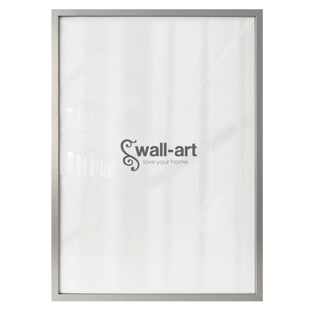 Picture frame of wood – silver