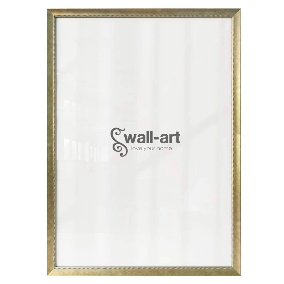Poster Frame Pearl Champagne with pearly edge