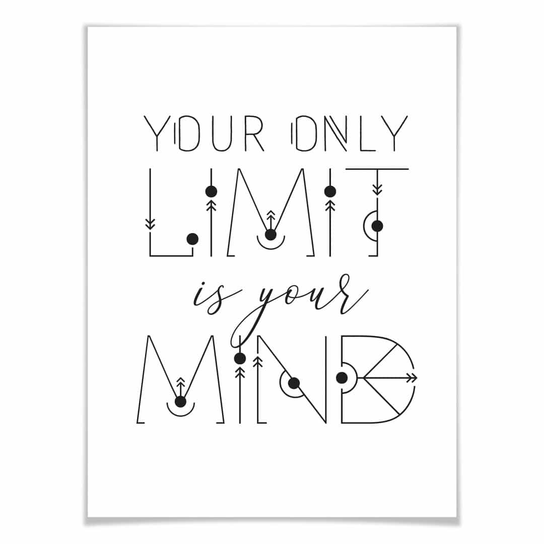 Poster Your only Limit is your Mind