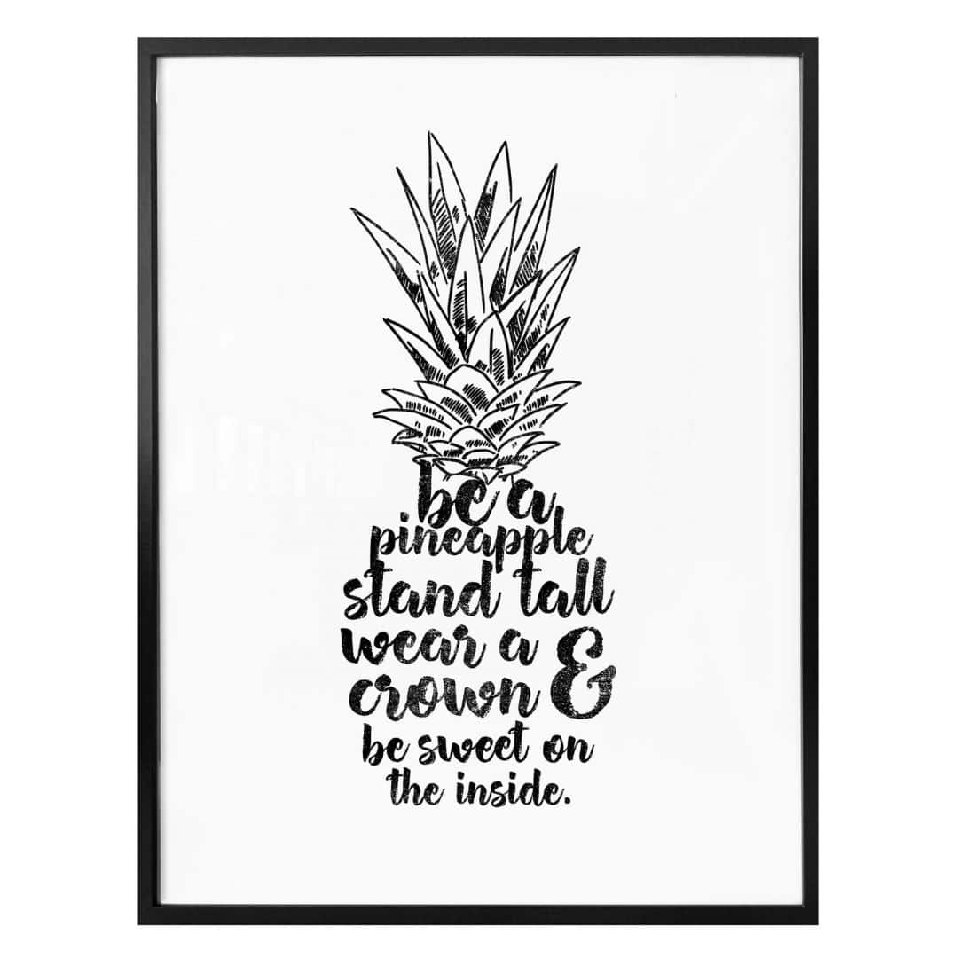 Poster Be a pineapple
