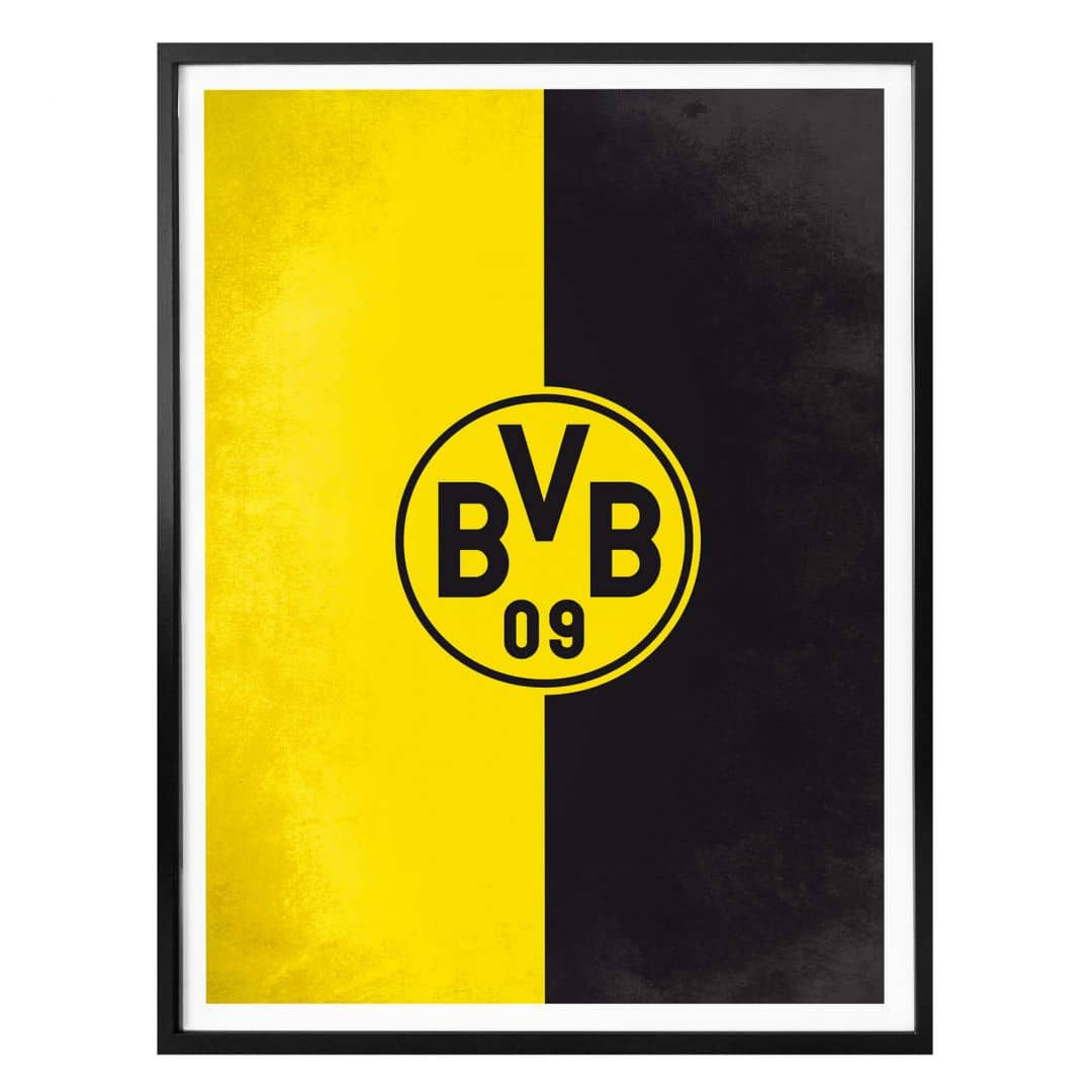 Bvb Logo Schwarz Weiß
