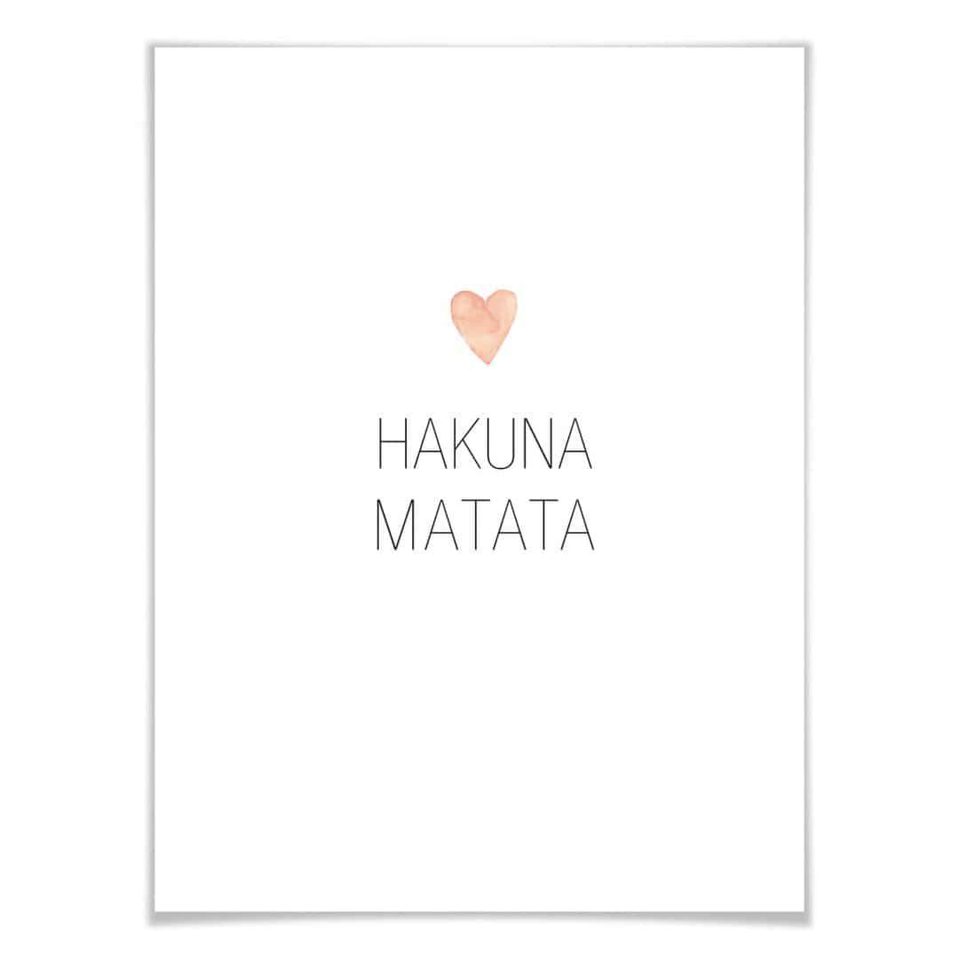 Poster Confetti & Cream - Hakuna Matata