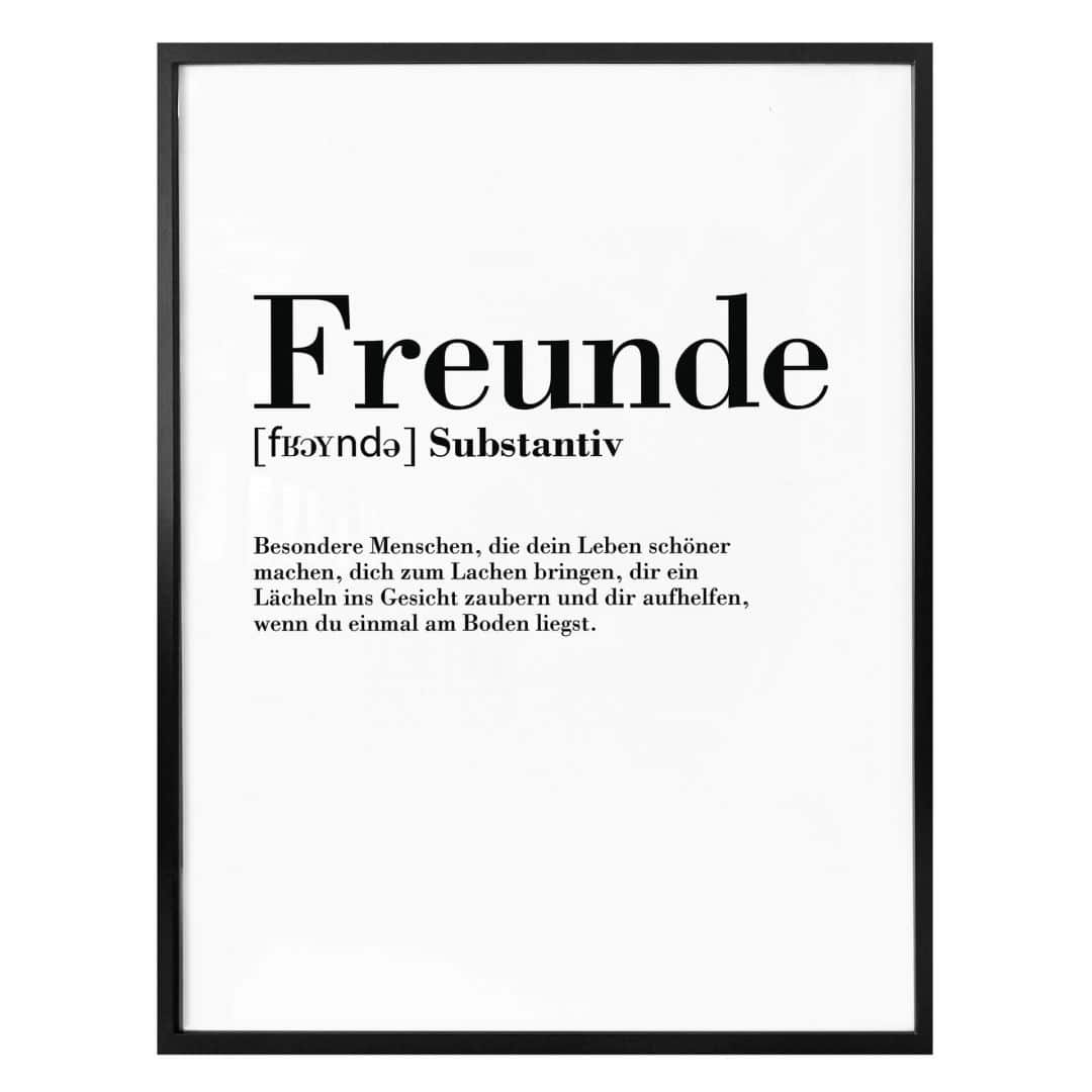 poster grammatik  freunde  wallartde