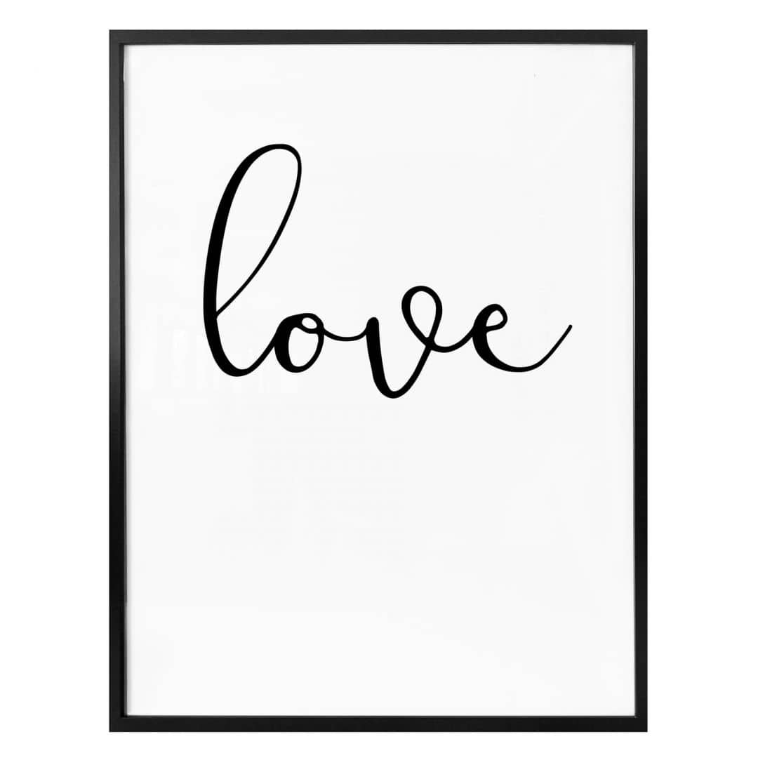 Poster Handwritten Love