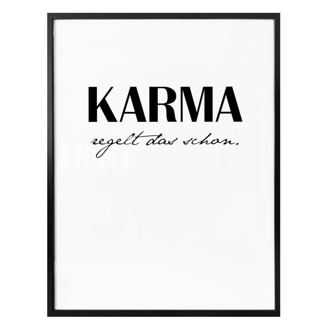 Poster Karma regelt das schon
