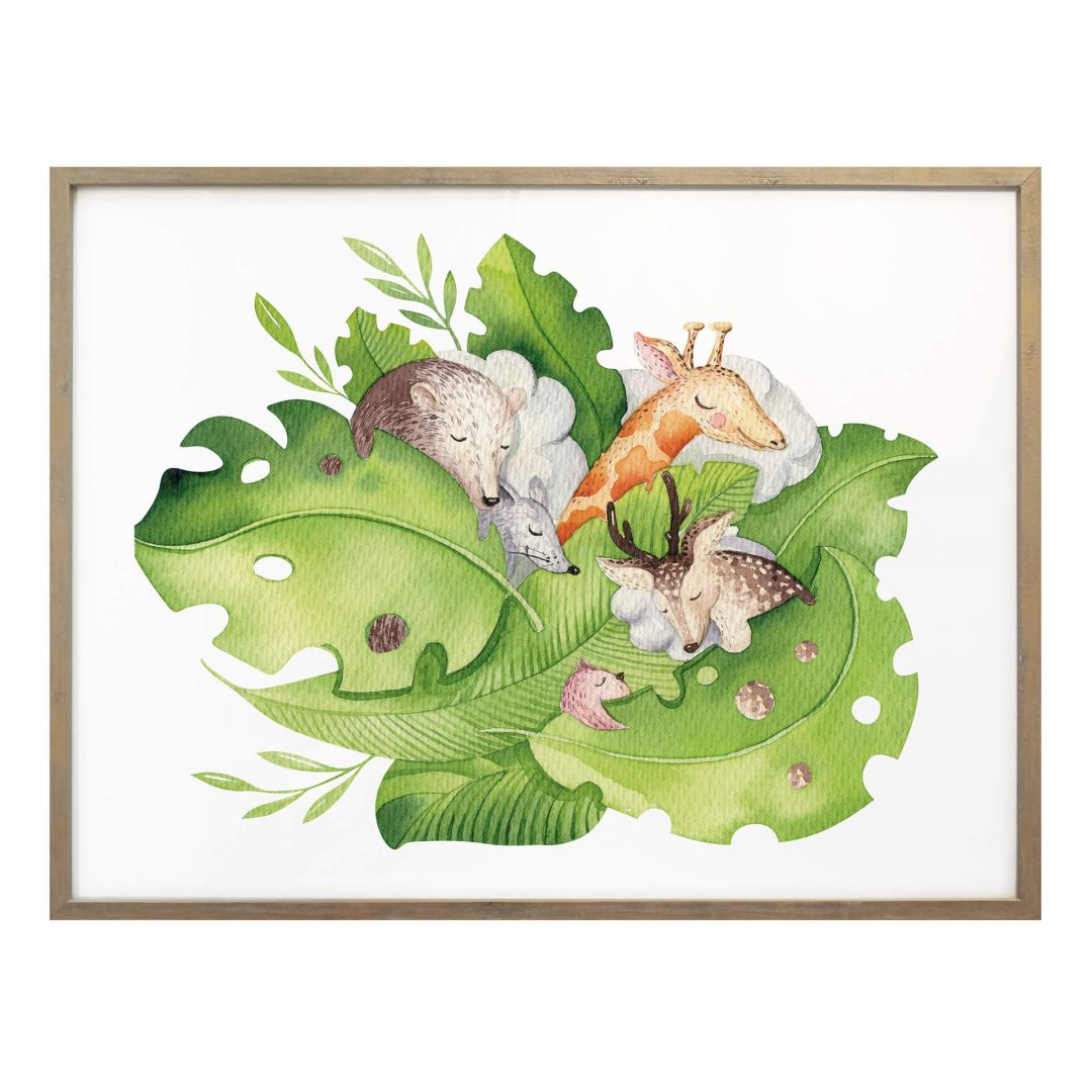 Poster Kvilis - Schlafender Dschungel