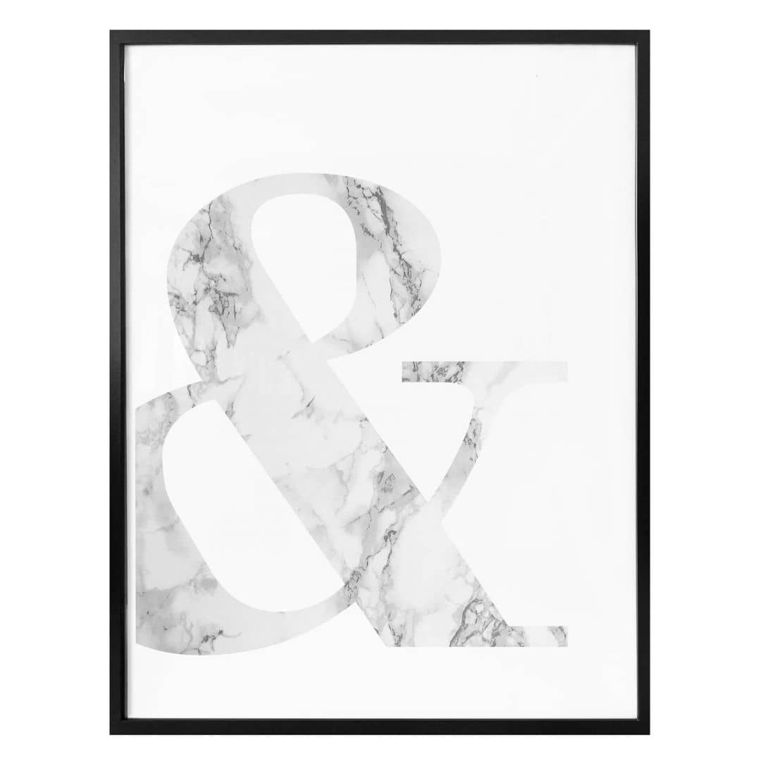 Poster Marble Ampersand